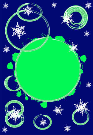 christmas motive: Green and Blue christmas motive background card, place for text