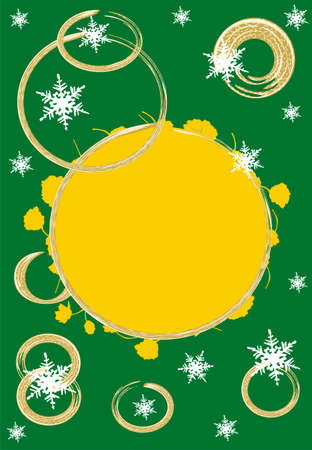 christmas motive: Green christmas motive background card, place for text