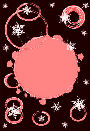 christmas motive: Red christmas motive background card, place for text