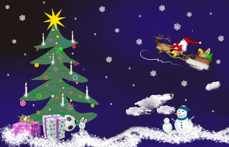 Night childs Christmas theme,  compliment of the season, background photo