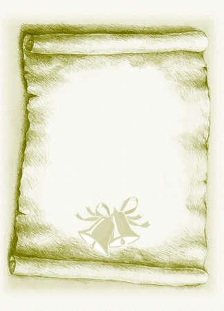 Pergamenový papír s prostorem pro text