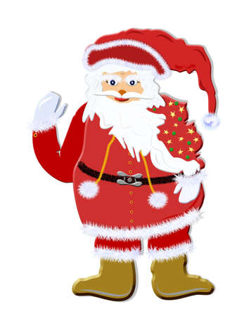 Santa Claus with a sack, background, isolated photo