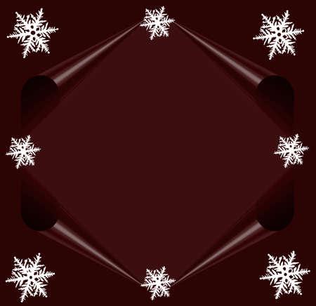 Paarse brief kaart Merry Christmas met witte sterren, Frame voor de tekst