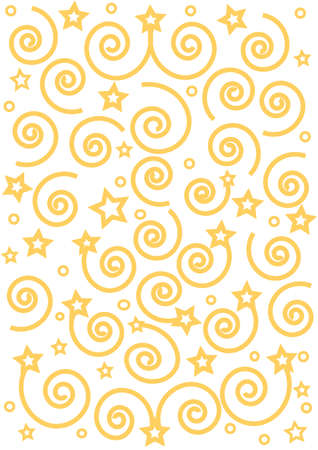 Gold Christmas background from the spirals and stars