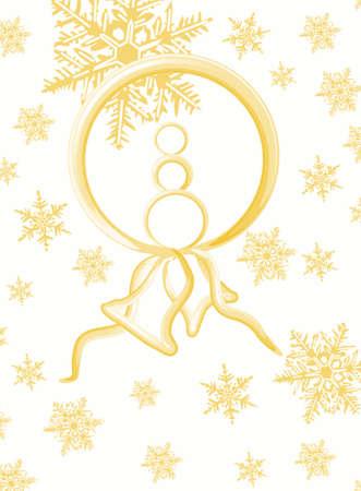 christmas motive: Gold Christmas motive, background