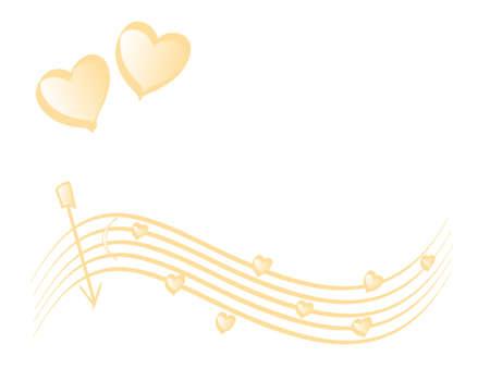 sehnsucht: Liebe Thema, Hintergrund ? Farbverlauf mit gold Herz, Platz f�r Ihren Text (Vektor)