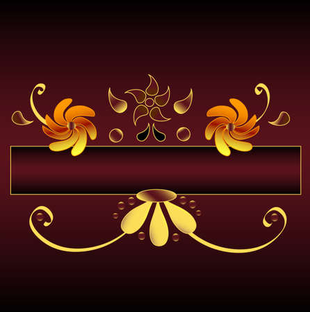 Floral oramental motive, frame for your text Stock Vector - 6448999
