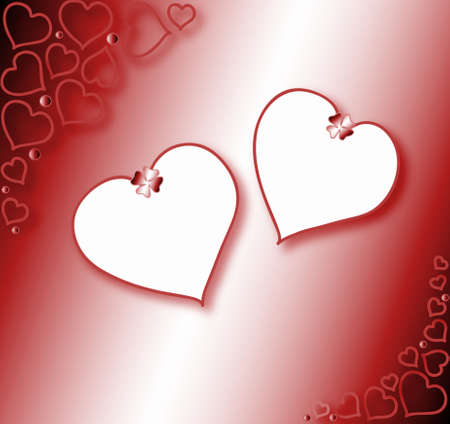 yearning: Valentines background;  hearts frame for your text,vector Stock Photo