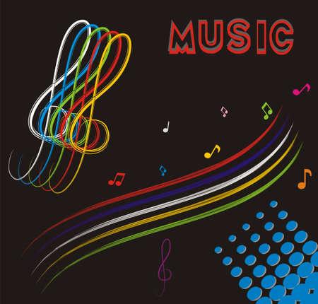 square sheet: Music theme, background, symbols, 3D Stock Photo