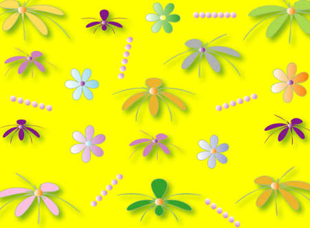 flowered: Flowered wallpaper