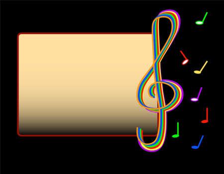 Music motive, frame for text Vector