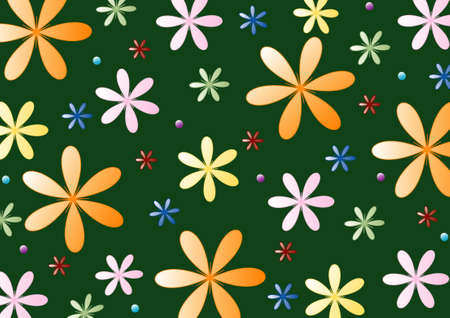flowered: Flowered wallpaper, colorful floral background,vector Illustration