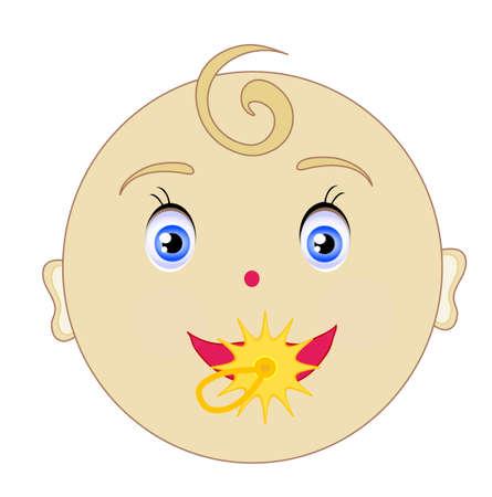 Smile, baby head  Vector