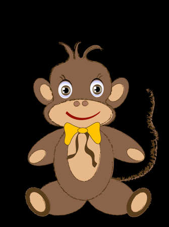illustration one Monkey Vector