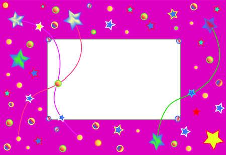 parade confetti: Marco de tarjeta, blanco de invitaci�n para el texto Vectores