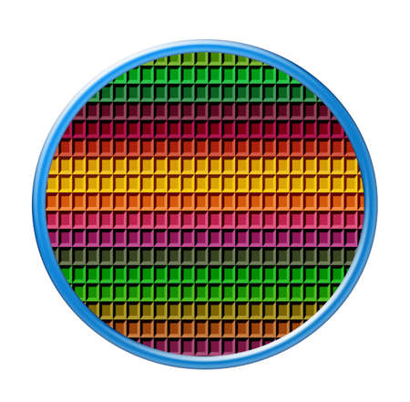 tessellated: Colorful color circle table, object isolated  Stock Photo