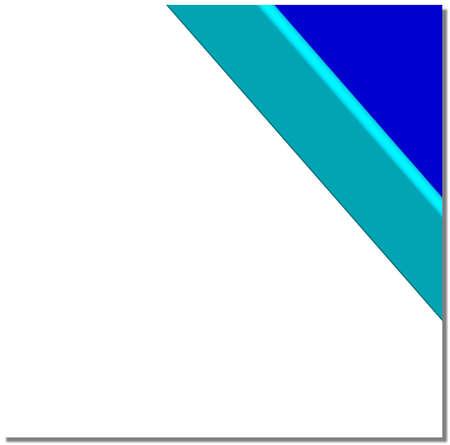 Blue corner ribbon with turquoise border, white  square  background Stock Photo - 7246724