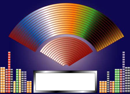 Disco theme, white frame for text photo