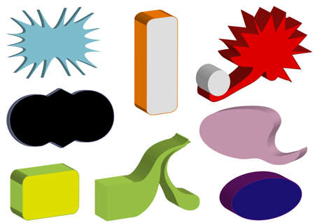Colors 3D objects, white isolated, Stock Photo - 7305267