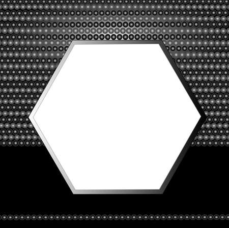 Geometrical background, hexagon frame for your text Stock Vector - 7305290