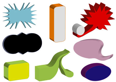 Colors 3D objects Stock Vector - 7305286