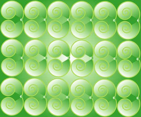 Green spirals background Stock Vector - 7305282