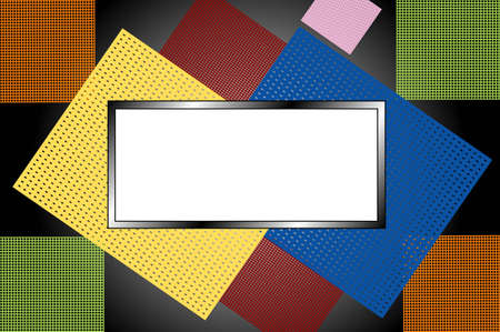 Colors noticeboard, white frame for text Vector