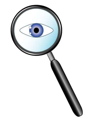 Eye loupe Stock Vector - 7355368