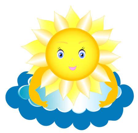 Fairy sun to shine, children picture Vector