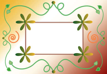 name day: Floral background, frame for your text