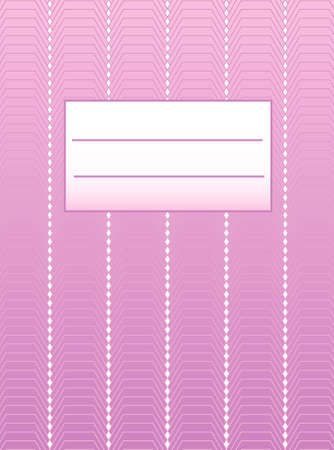 Pink cover workbook for girls Stock Vector - 7598241