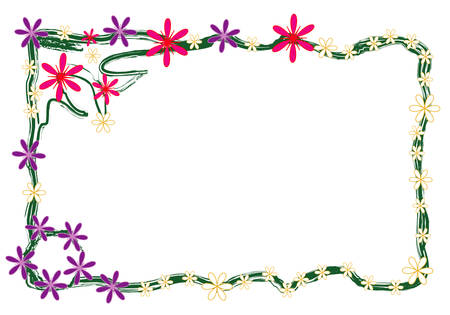Floral frame, white place for your text Illustration