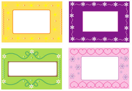 Four color background with text frames Stock Vector - 7695567