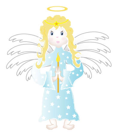 Little angel child, object isolated  Vector