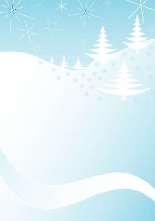 Winter landscape, place for text  Vector