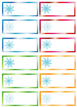 Winter price tag, place for text Stock Vector - 7784715
