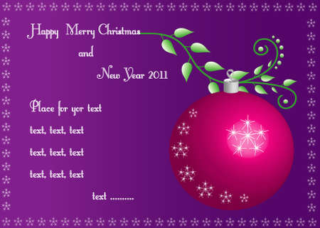 Merry Christmas background, place for text, Vector