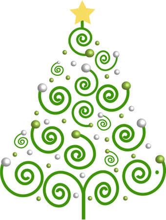 Decorative christmas tree, vector