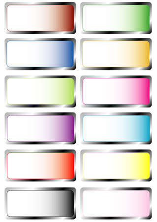 Colors set labels, white isolated Stock Vector - 8243286
