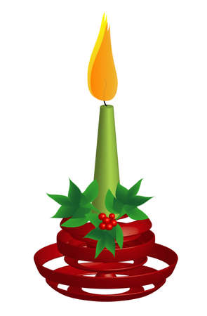 candlestick: Red Candlestick, green Candle, 3d Illustration