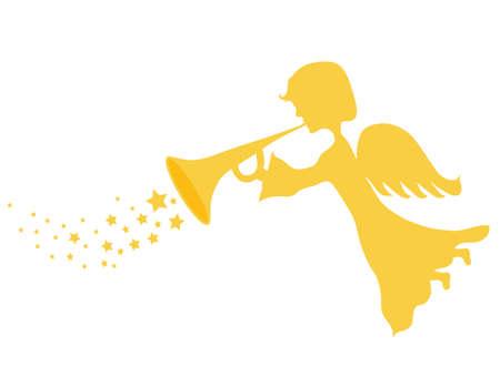 religious icon: Angel oro  Vectores