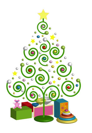 Colorful Christmas Tree Stock Photo - 8330765