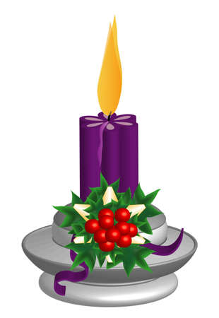 Candlestick, purple Candle Stock Vector - 8330774