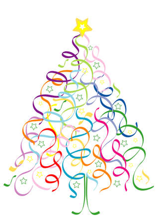 Christmas Tree of confetti Vector