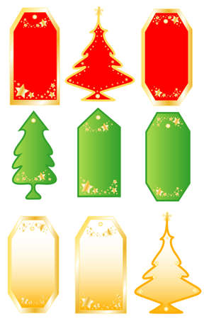 Collection Christmas colors labels,nameplate frame for text Illustration