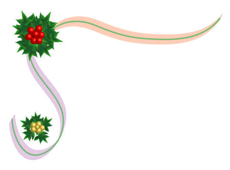 Chrismas ribbon, place for text Stock Vector - 8425913