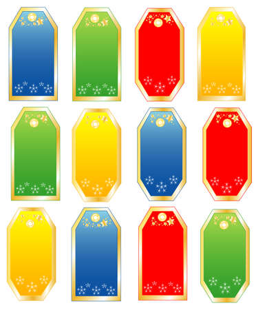 collection of colored objects are isolated in white, vector
