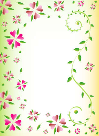 Floral background, place for your text, vector Stock Vector - 8507451