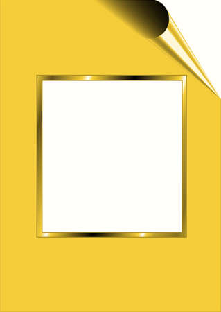 Yellow paper with white frame for text Stock Photo - 8611415
