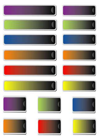 Colors set stickers  Ilustracja